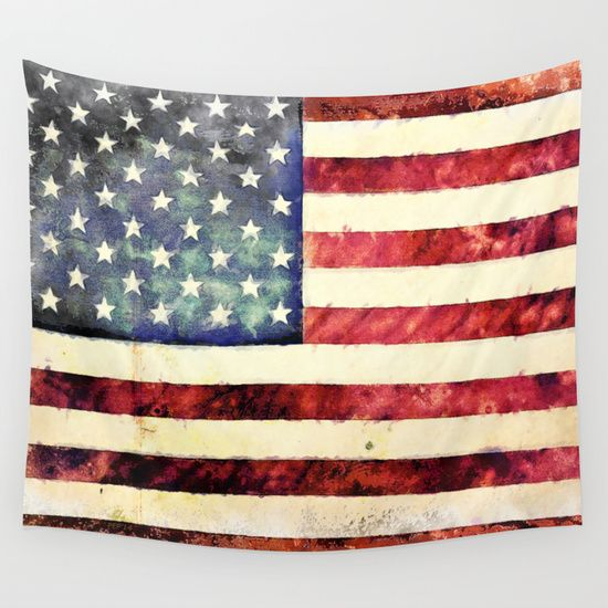 Buy Vintage American Flag Wall Tapestry by conservative. Worldwide shipping available at Society6.com. Just one of millions of high quality products available.