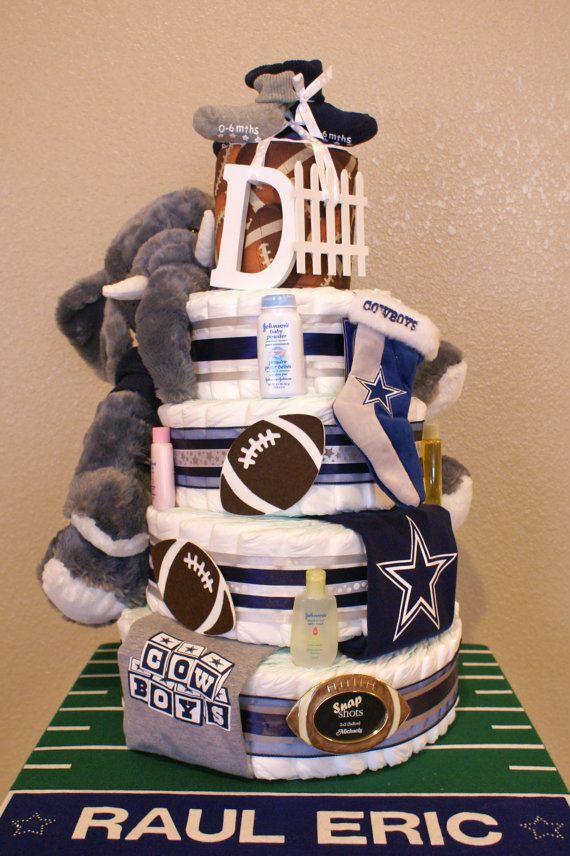 Dallas Cowboy- 5 Tier Diaper Cake