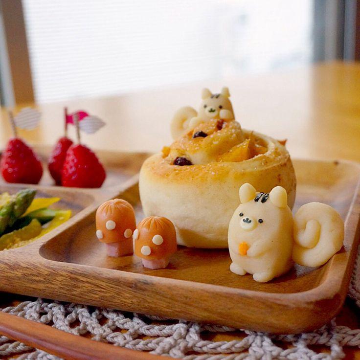 リス&りんごパンプレート♡+by+jndch+at+2014-3-14