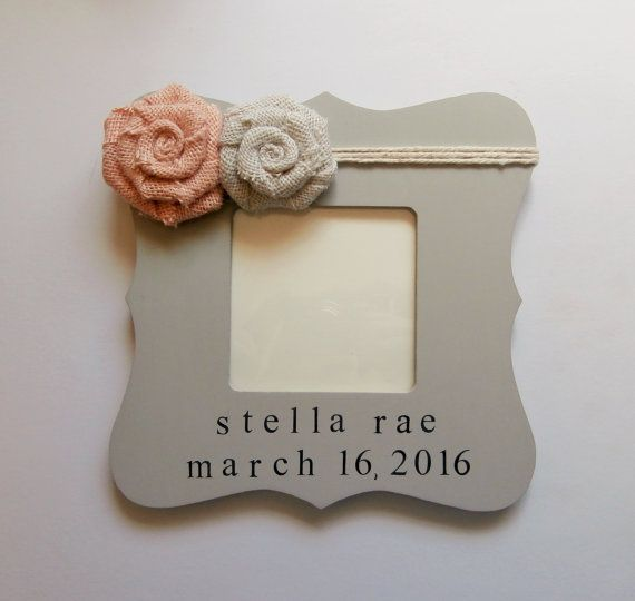 Personalized baby girl gift new parent gift by EmbellishedForLove