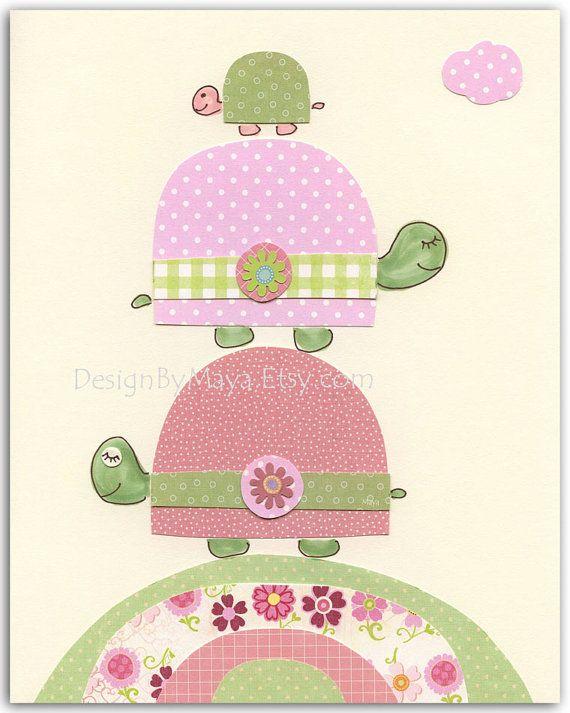Nursery wall art print Baby girl room decor kids by DesignByMaya, $17.00