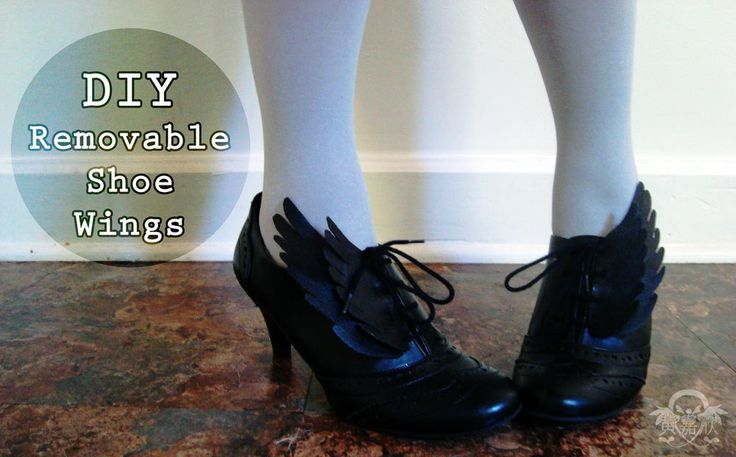 DIY removable shoe wings!!