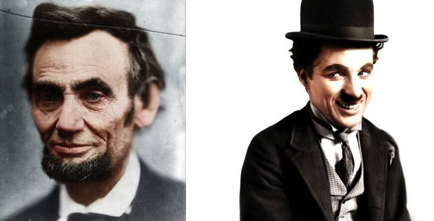 Colorized B Photos of Historical Icons | feel desain