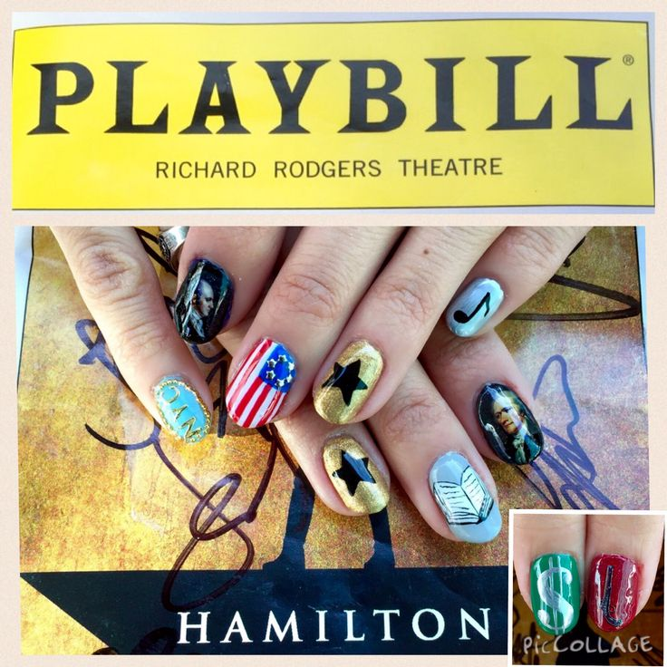 When anyone asks about my nails, I get to talk about Hamilton the musical! Best conversation starter to the the only subject I want to talk about :)