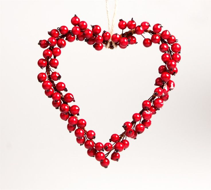 Berry Hanging Heart Decoration