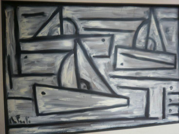 """""""Gris navegar"""" 50 x 66 óleo sobre cartón"""