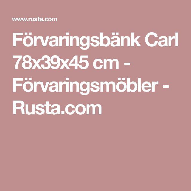 Förvaringsbänk Carl 78x39x45 cm - Förvaringsmöbler - Rusta.com