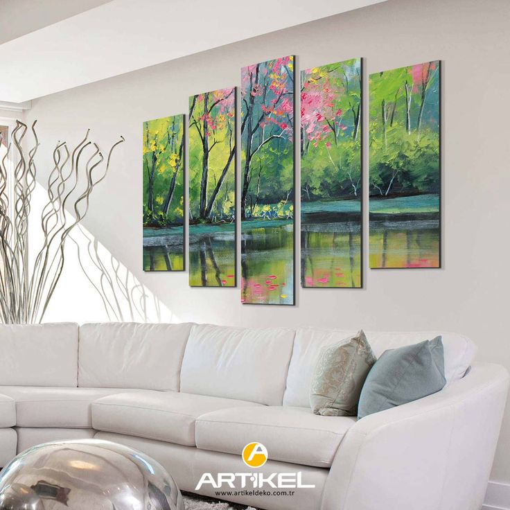 """Yılın dekorasyon renklerini kanvas tablolarımıza yansıttık. """"Forest-2"""" Kanvas Tablo 95x70 cm ölçüsü ile stoklarımızda.. #yeniürün #kanvastablo #art #tasarım #renk #rendrenkler #forest"""