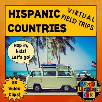 Make Hispanic culture come alive by traveling the globe virtually with your students to all 21 Spanish speaking countries. This collection of links to 85 video clips are perfect for teaching authentic culture and for Spanish listening practice (accents and people from all over the world).
