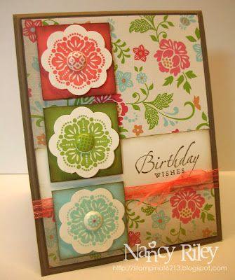 pretty card by Nancy Riley  more at http://stampinat6213.blogspot.com/