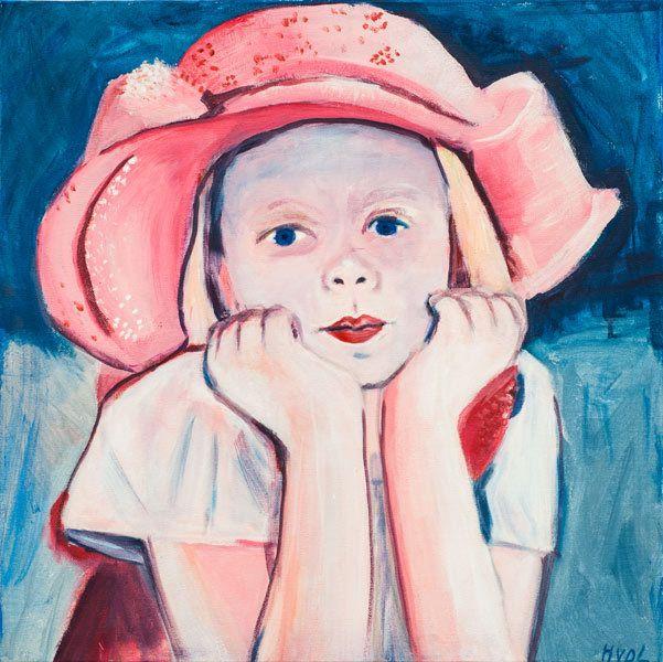 Meisje met roze hoed (HL-006) NIEUW