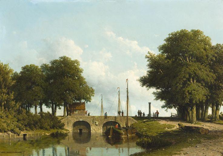 Jan Weissenbruch (1822-1880). De sluizen van de Nederwaard bij Elshout, ongedateerd Olieverf op paneel, 31 x 44 cm Groninger Museum, Groningen Foto: Marten de Leeuw