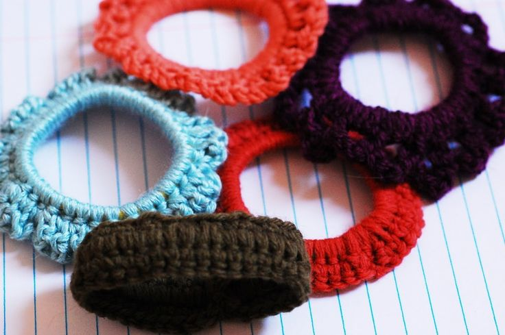 Crochet Hair Scrunchie Video : Crocheted Scrunchie