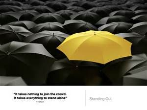 standing out from the crowd - Bing images