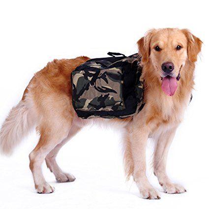 Hubulk cane zaino regolabile Bisaccia cane di stile di accessori Borsa cablaggio per medie e grandi cani Formazione campeggio d'escursione esterno: Amazon.it: Sport e tempo libero