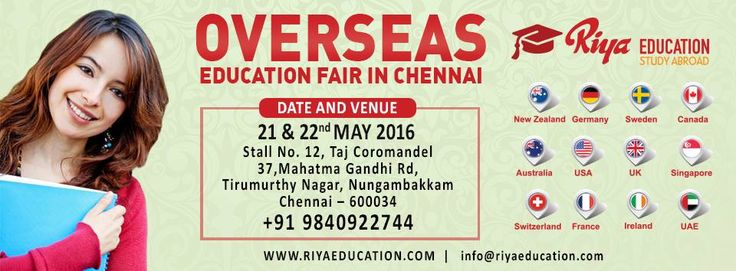 Overseas Education Fair in Chennai on 21st and 22nd May 2016. Those who wish to study abroad can attend.
