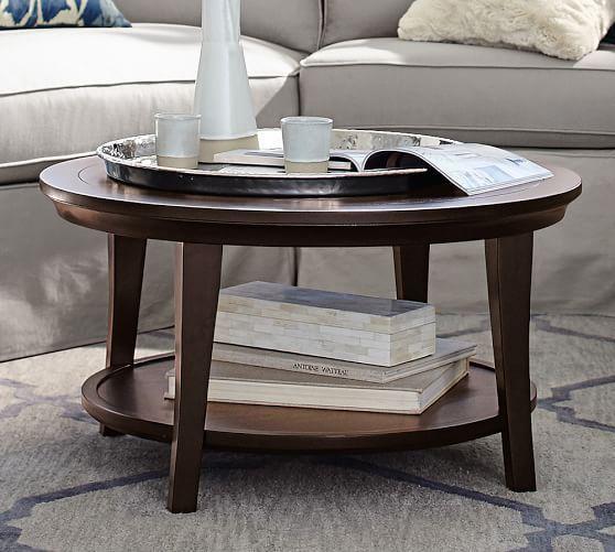 FAMILY ROOM COFFEE TABLE OPTION - Metropolitan Round Coffee Table | Pottery Barn