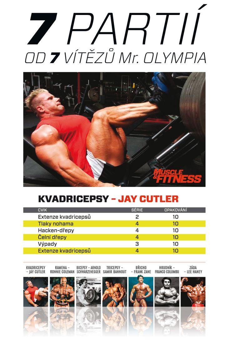 7 partií od 7 víťazov Mr. Olympia - Jay Cutler a jeho tréning kvadricepsov.