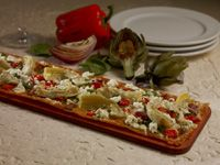 Seasons 52 Artichoke Flatbread Recipe | Use the flatbread recipe for all different flatbreads