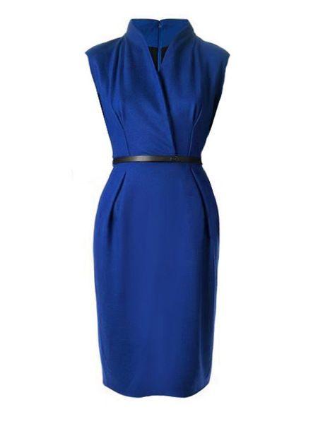 Plain Brilliant V Neck Bodycon Dress