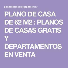 PLANO DE CASA DE 62 M2 : PLANOS DE CASAS GRATIS Y DEPARTAMENTOS EN VENTA