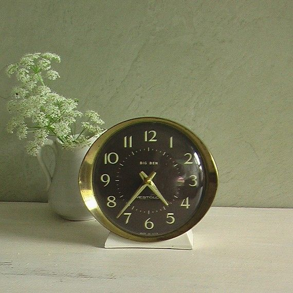 Wind up clock.....it glowed green at night and had a really loud alarm!!