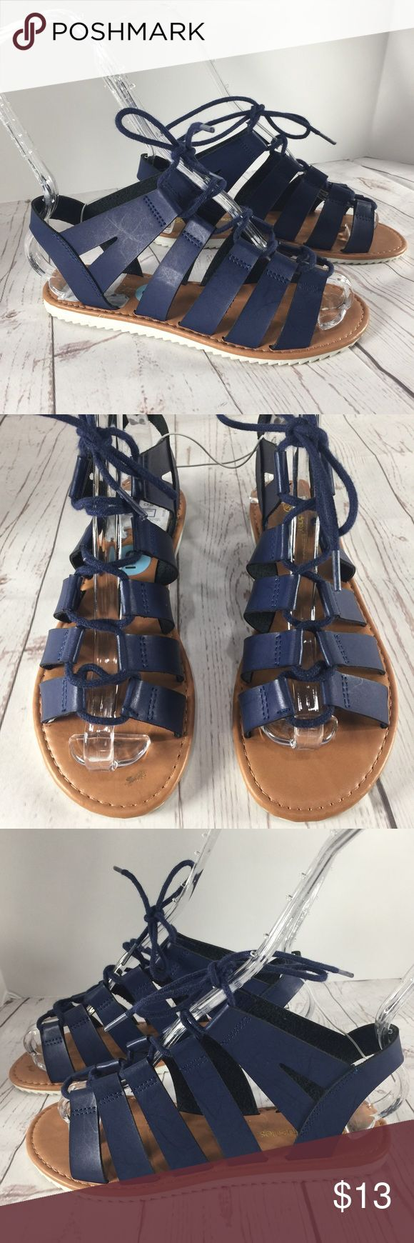Daisy Fuentes Blue Strappy Sandals Daisy Fuentes Strappy Sandals perfect for Spring and Summer, notice that they have some scuffs and marks; they were just sitting in a closet. Brand New!! Daisy Fuentes Shoes Sandals
