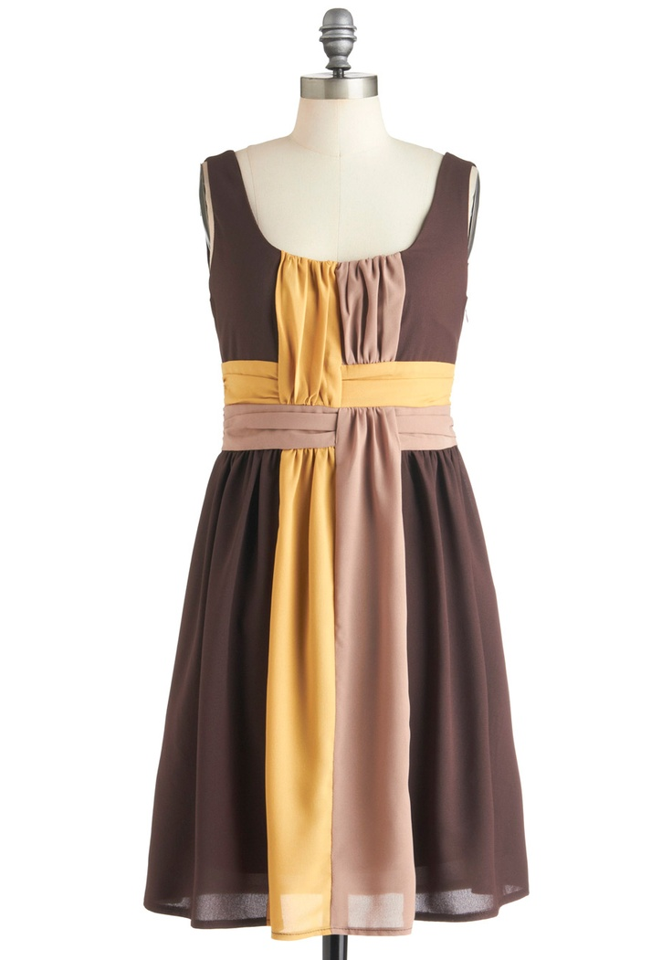 Add crossed sashes to a dress - so cool! On the Honey Dress | Mod Retro Vintage Dresses | ModCloth.com