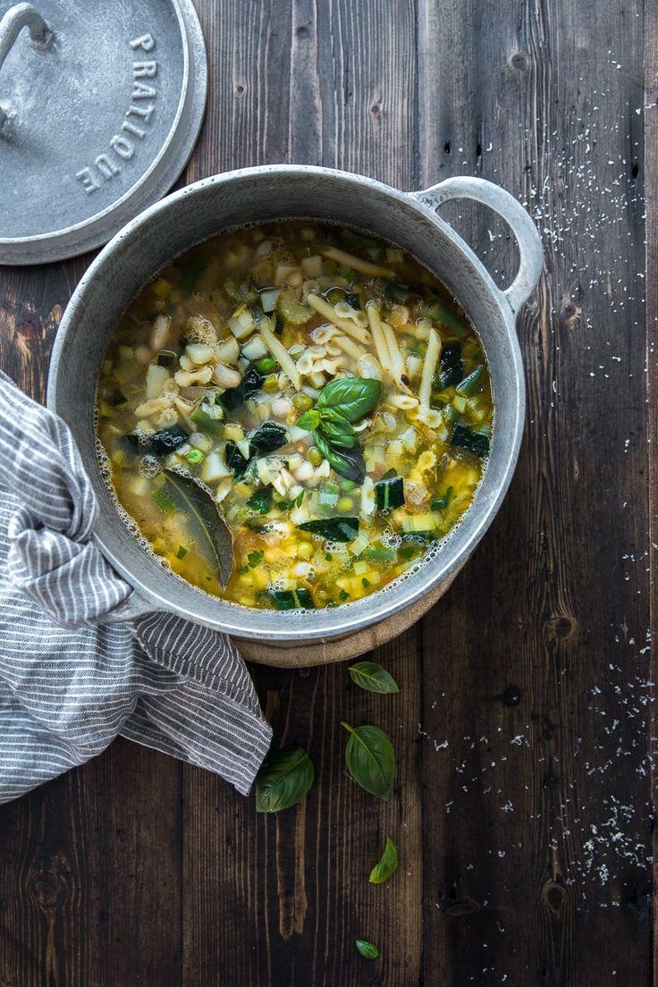 Green Minestrone Soup - Cook Republic #vegan #dinnerideas #pasta