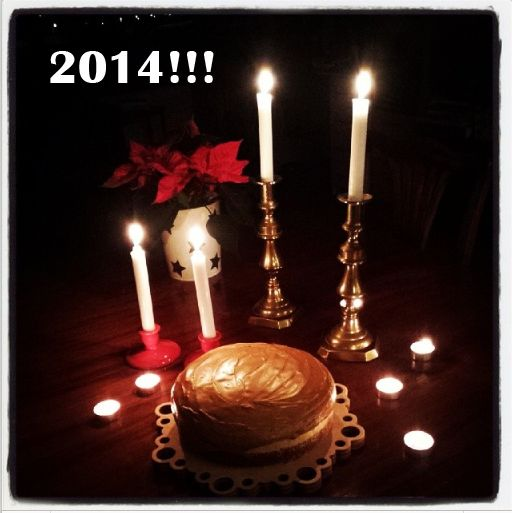 Happy New Year! With the hope to stay awake till the clocks turn midnight our desert for tonight... coffee cake!