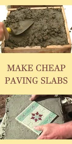 How to make cheap concrete paving slabs :)