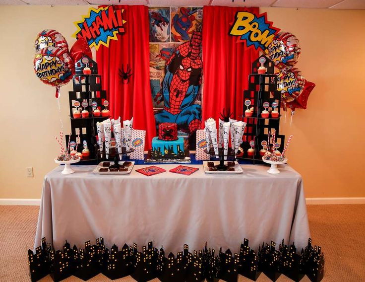 The amazing Spider-Man party