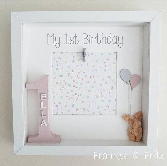 Girls 1st Birthday Frame, Personalised 1st Birthday Gift, Babys 1st Birthday Photo Frame, 1st Birthday Gift For Girls First Birthday Photo