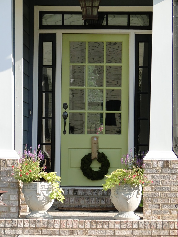 Front door entry and side doors painted
