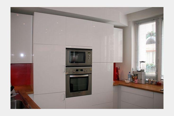 1000 id es sur le th me cuisine blanc laqu sur pinterest - Cuisine ikea blanc laque ...