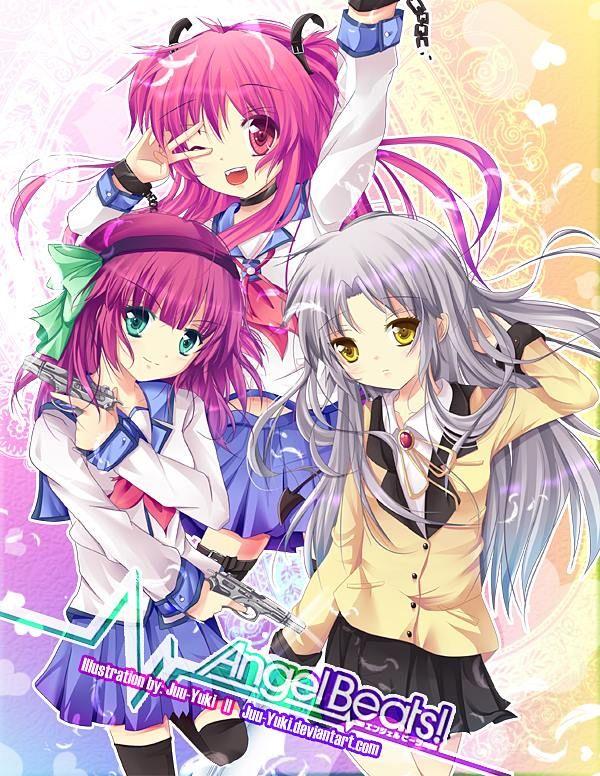 Kanade / Tenshi , Yurippe y Yui // angel beats Art