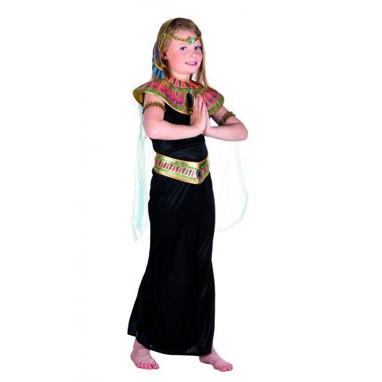 Dit Egyptische prinses kostuum voor meiden is gemaakt van polyester en wordt geleverd met een hoofdband, kraag met cape, armbanden en riem.