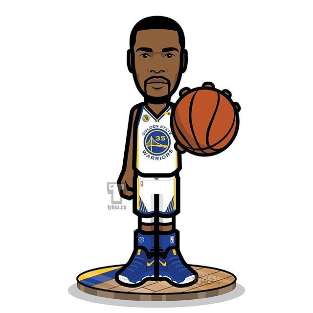 """Kevin Durant """"Golden State Warriors"""" Tyke. At Oracle Arena tonight, Kevin Durant and the Warriors will raise curtain on a new era.It is without question the most anticipated debut in the franchises history.  #KevinDurant #DubNation #Warriors #NBATipOff #MyTyke"""