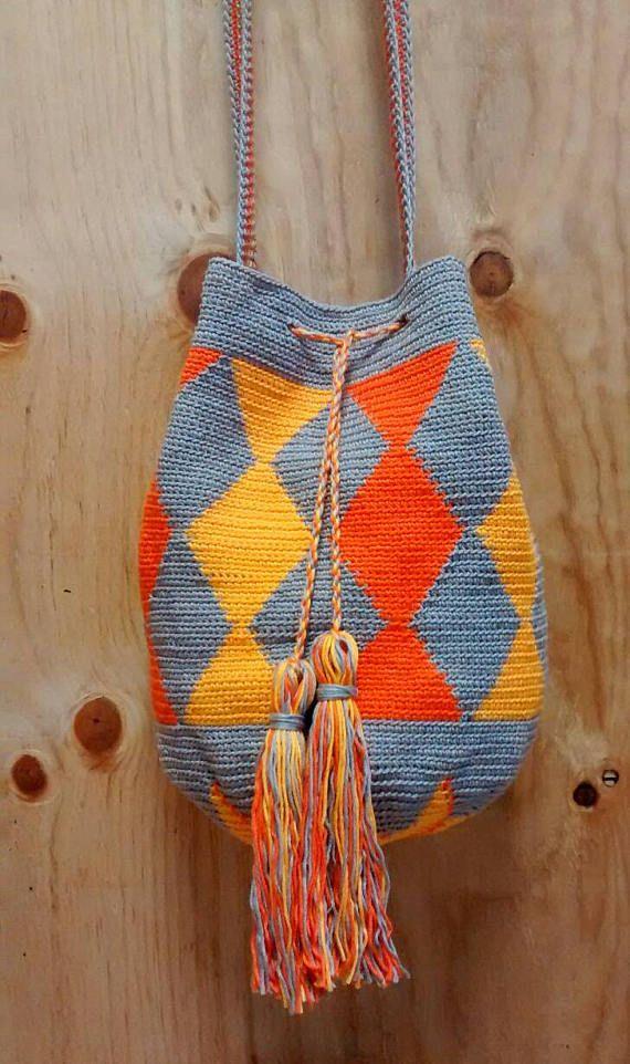 wayuu crochet bag wayuu style bag cotton bag ethnic bag