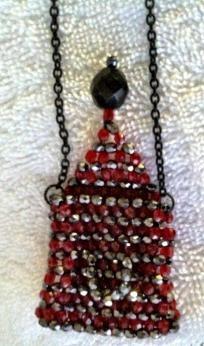 Czech Glass Beadwoven Amulet Bag