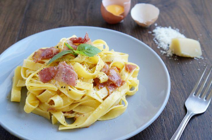Паста карбонара, пошаговый фото рецепт, итальянская кухня