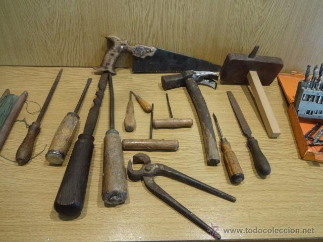 Lote antiguas herramientas de carpintero en total 15 for Herramientas que se utilizan en un vivero