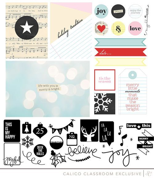 Printables and cut files for  25 Days class at Studio Calico!