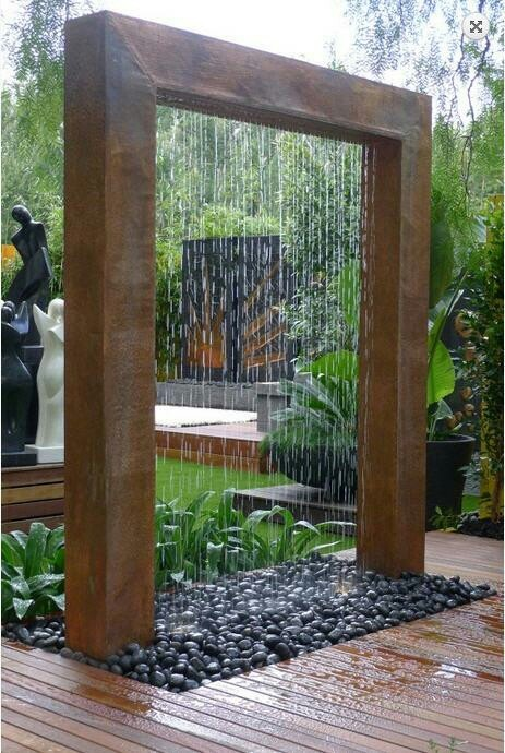 Copper Rainshower!! I love rain! and to have a outdoor water feature is a must at our new home!!