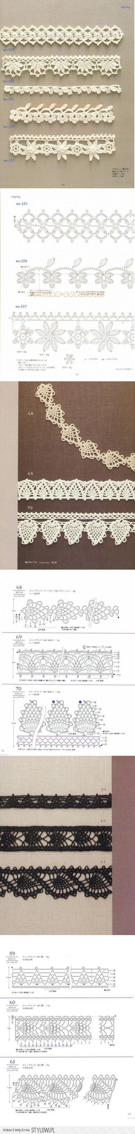 Lace Crochet Edging with Chart Diagram Pattern More