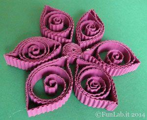 Fiori, bellissima decorazione ma anche attività per bimbi...con la tecnica quilling http://blog.funlab.it/2014/08/van-gogh-fiori-quilling/