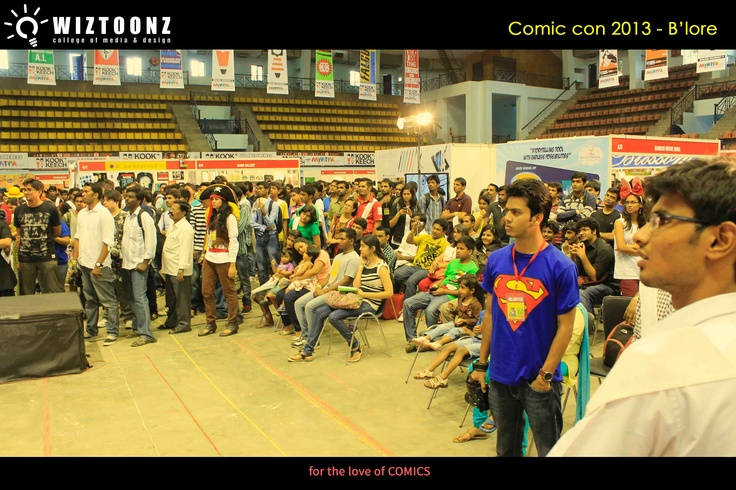 Students Visit to COMIC CON 2013 #Multimedia #Animation #Wiztoonz www.wiztoonz.com