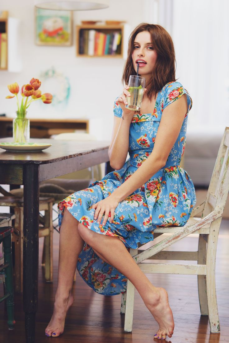 Laura dress in Blue Lagoon