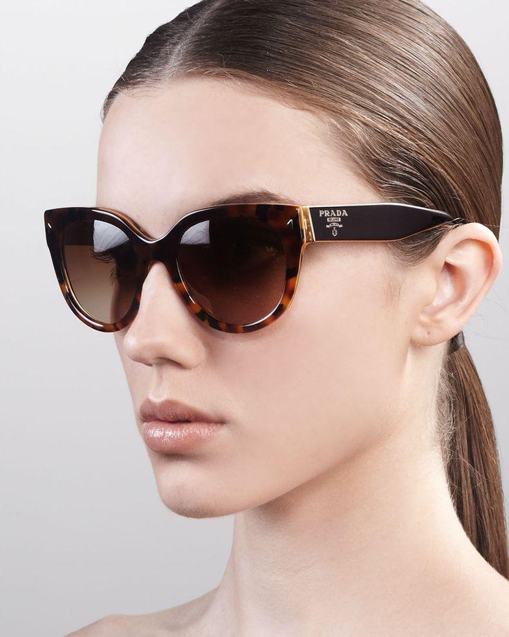 Heritage Cat-Eye Sunglasses by Prada at Neiman Marcus.