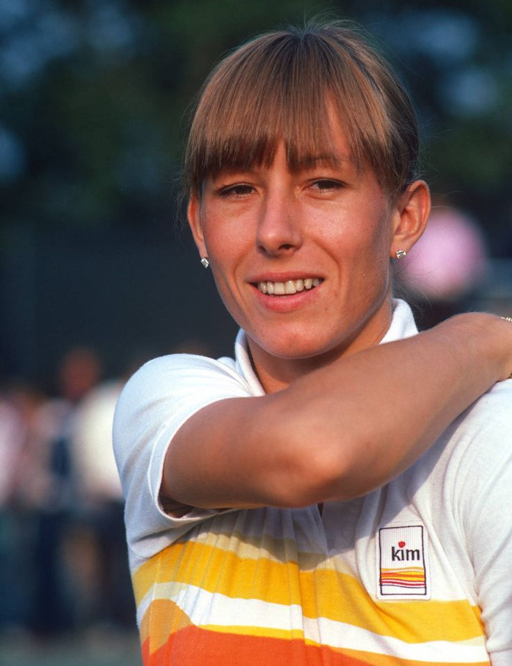 martina navratilova and her bangs at the 1981 us open